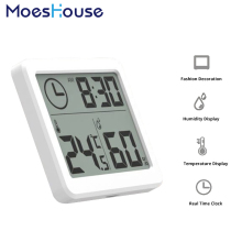 Multifunction Automatic Electronic Temperature and Humidity Monitor Clock 3.2inch Large LCD Screen
