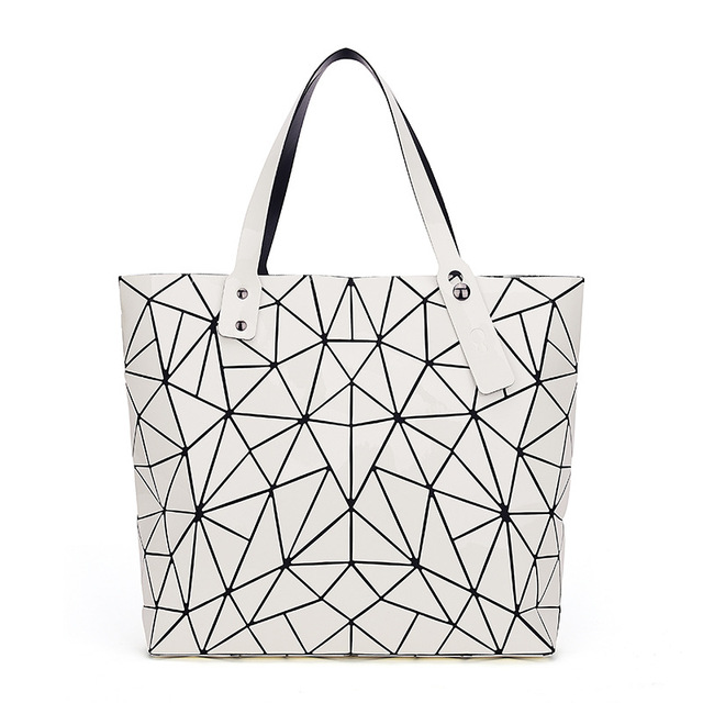 WSYUTUO Handbag Female Folded Ladies Geometric Plaid Bag Fashion Casual Tote Women Handbag Shoulder Bag 1