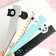 1pcs 15CM Adorable Animal Straight Rule Shape Meter Wooden Cartoon Ruler Drawing Learning For Students Mapping Supplies