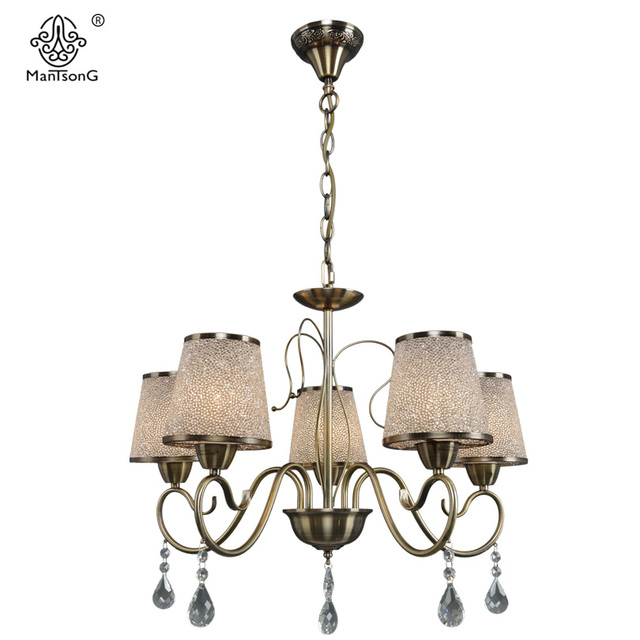new crystal pendants lamp for bedroom living room glass lights 5heads chandeliers luminaire home lighting vintage