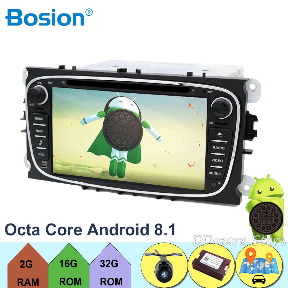 4G Android 8.1 Octa 8 Core Voiture Lecteur DVD GPS Pour FORD Mondeo S-MAX Connect POINT 2 2008 2009 2010 2011 2G RAM