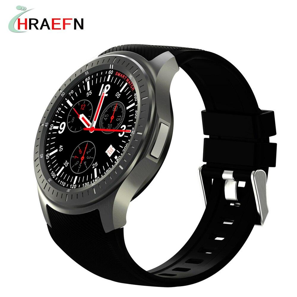 HRAEFN Smart Watch <font><b>phone</b></font> Android 5.1 DM368 bluetooth WristWatch <font><b>AMOLED</b></font> Display Quad Core 3G GPS SmartWatch Heart Rate Monitor