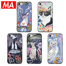 MA Cute fairy tale animal images Phone Case For IPhone 7 8 Plus XS Max XR Cases For IPhone X 8 7 6 6S Plus 5 SE Soft TPU Cover