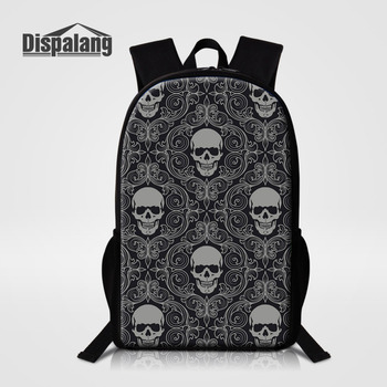 Skull Printed Stylish Backpacks Schoolbag f