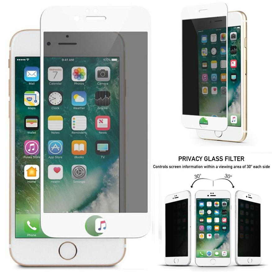 US $4 36 28% OFF|Privacy Anti Spy Tempered Glass Screen Protector Full  Coverage For iPhone 7 Plus JUL13 Dropship-in Phone Screen Protectors from