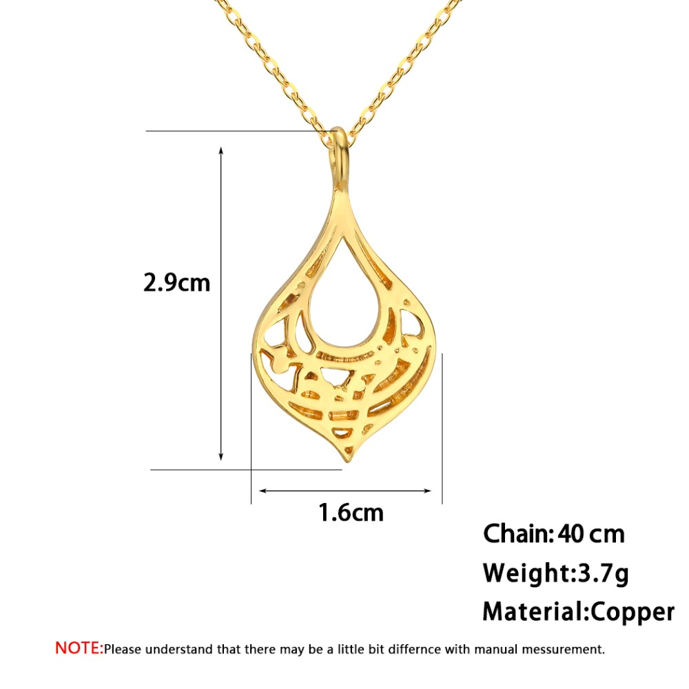 Chereda Delicate Gold Color Necklace For Women Handmade Olivewood Pendant Bijoux Female Wedding Party Jewelry Fine Accessories in Pendant Necklaces from Jewelry Accessories