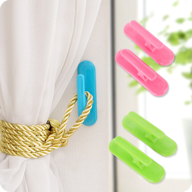 Peas Japanese Multi Use Paste Type Curtain Hook Side Alhambra Strong Stick