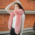 Fashion brand winter scarf women thick long fur scarf collar Imitation beaver rabbit wool scarves new arrival warm echarpe cape