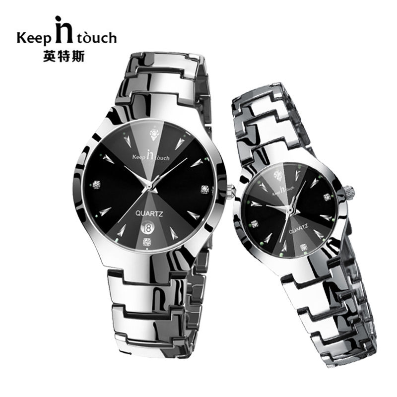 KEEP IN TOUCH Simple Mens&Women Watches Alloy Quartz Couple Watches Ladies Luminous Waterproof Couple clock relogio masculinoKEEP IN TOUCH Simple Mens&Women Watches Alloy Quartz Couple Watches Ladies Luminous Waterproof Couple clock relogio masculino