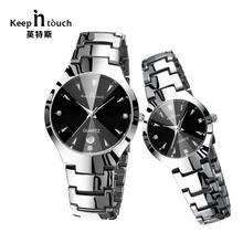 7106e43e48c MANTER EM CONTATO Simples Homens   das Mulheres Relógios Liga relógio de  Quartzo Casal Relógios Senhoras