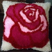 Роза для рукоделия Гобелен Холст нитки Вышивка Подушка для вышивки крестом наволочка