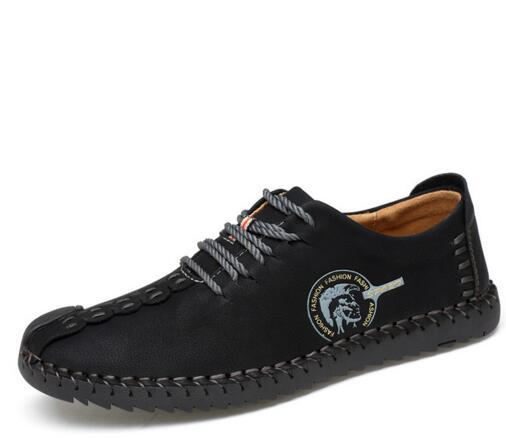 2017 Hot Sale Fashion Comfortable Breathable Men Falt Shoes Lace-up Solid Split Leather Male Causal Shoes huarache