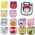 1pcs Free Shipping Baby Bibs Cute Cartoon Pattern Toddler Baby Waterproof Saliva Towel Cotton Fit 0-3 Years Old Infant Burp Clo
