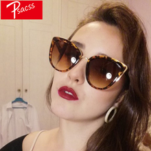 Psacss Vintage Big Cat Eye Sunglasses Wo