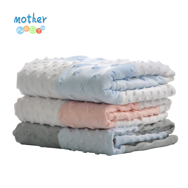 Mother Nest Baby Blanket Swadding Soft Muslin Stroller Sleep Cover Newborn Boys Girls Bath Towel Bedrooms Accessories 75X100 CM