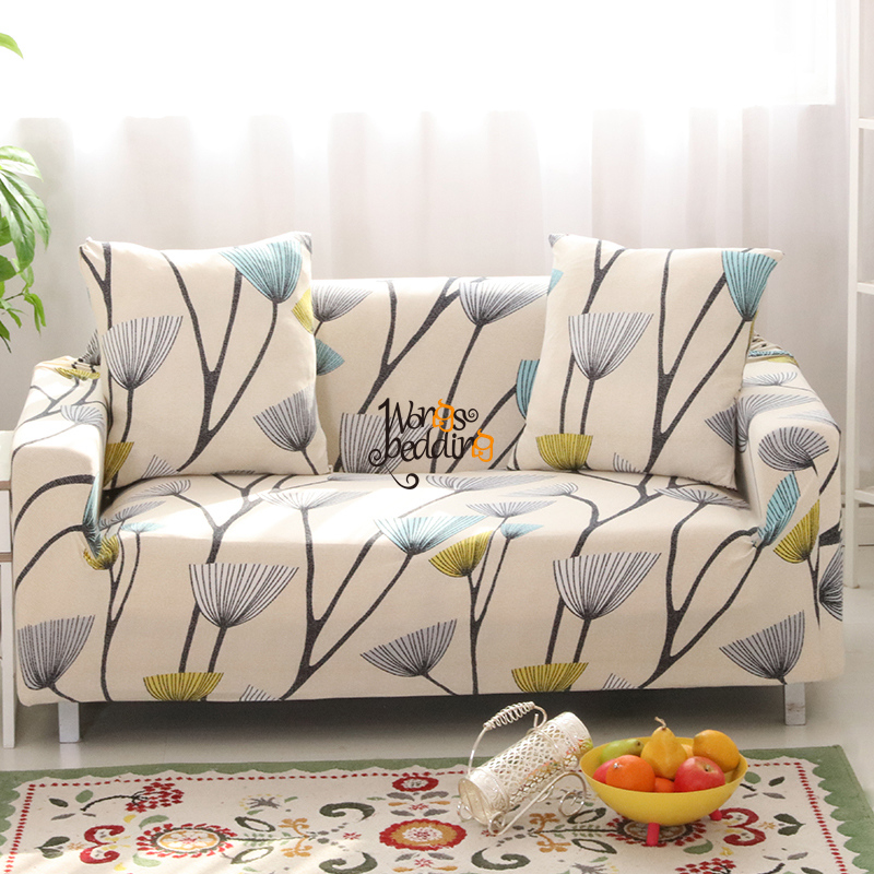 Sofa Cover 1/2/3 Seats Single Double Sofa Funiture Cover Design 11 Colors Polyester Flor ...