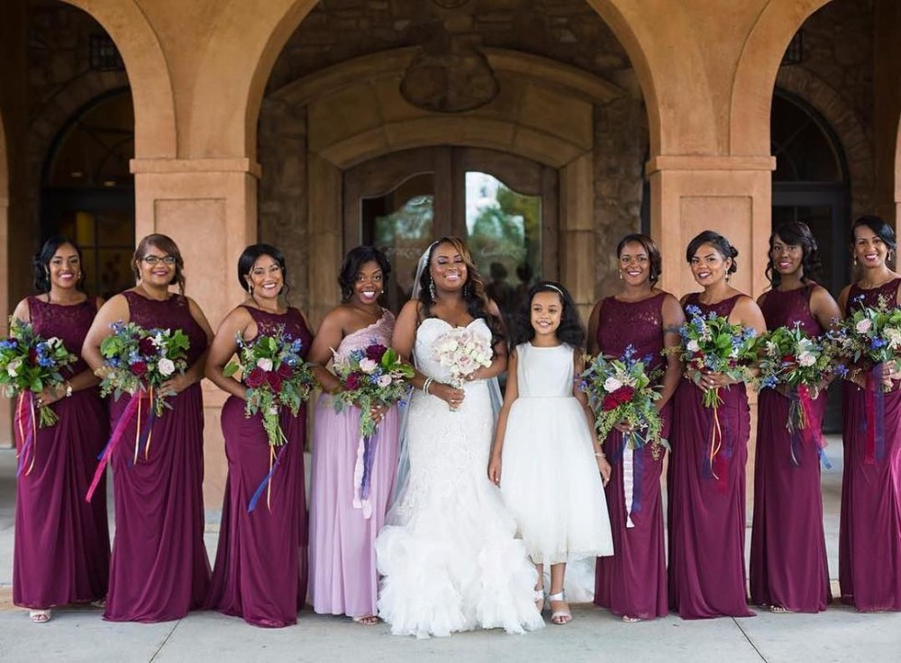 US $79.98 38% OFF Long Chiffon Wedding Party Guest Dress Woman Plus Size  Burgundy Bridesmaid Dresses-in Bridesmaid Dresses from Weddings & Events on  ...