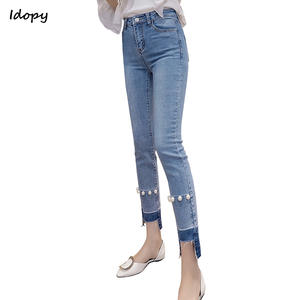 e768fe6570d Idopy Women Jeans Bell Bottom Ripped Vintage Straight Denim