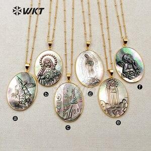Image 5 - Женское Ожерелье, овальной формы, с различным символом удачи