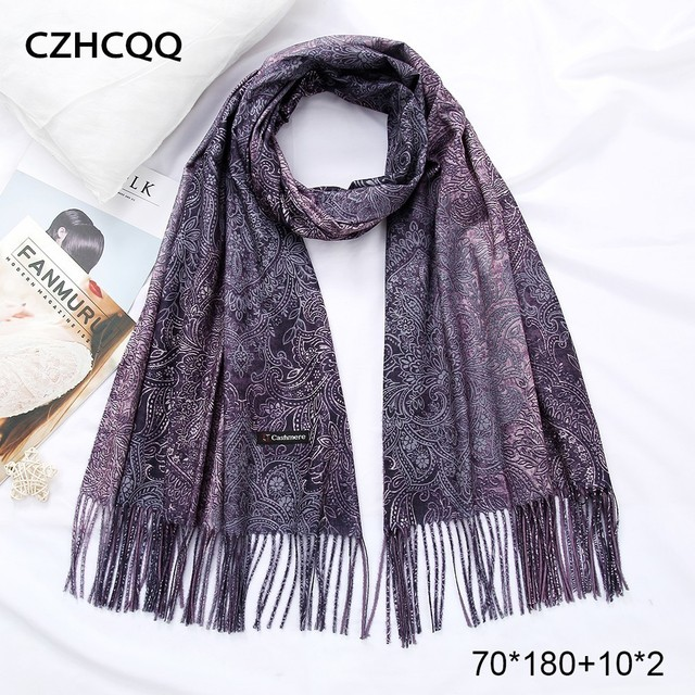 Winter Cashmere Scarf Women Foulard Wool Kerchief Bandana Sjaals Voor Dames Trumpet Plaid Poncho Women Scarf For Ladies 4