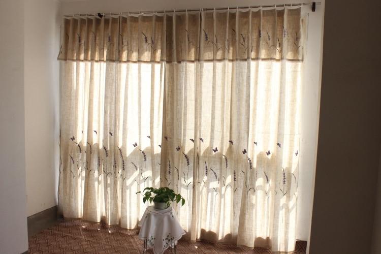Tende Da Doccia In Lino : Pannello di lino lino poliestere miscelazione ricamato lavanda e
