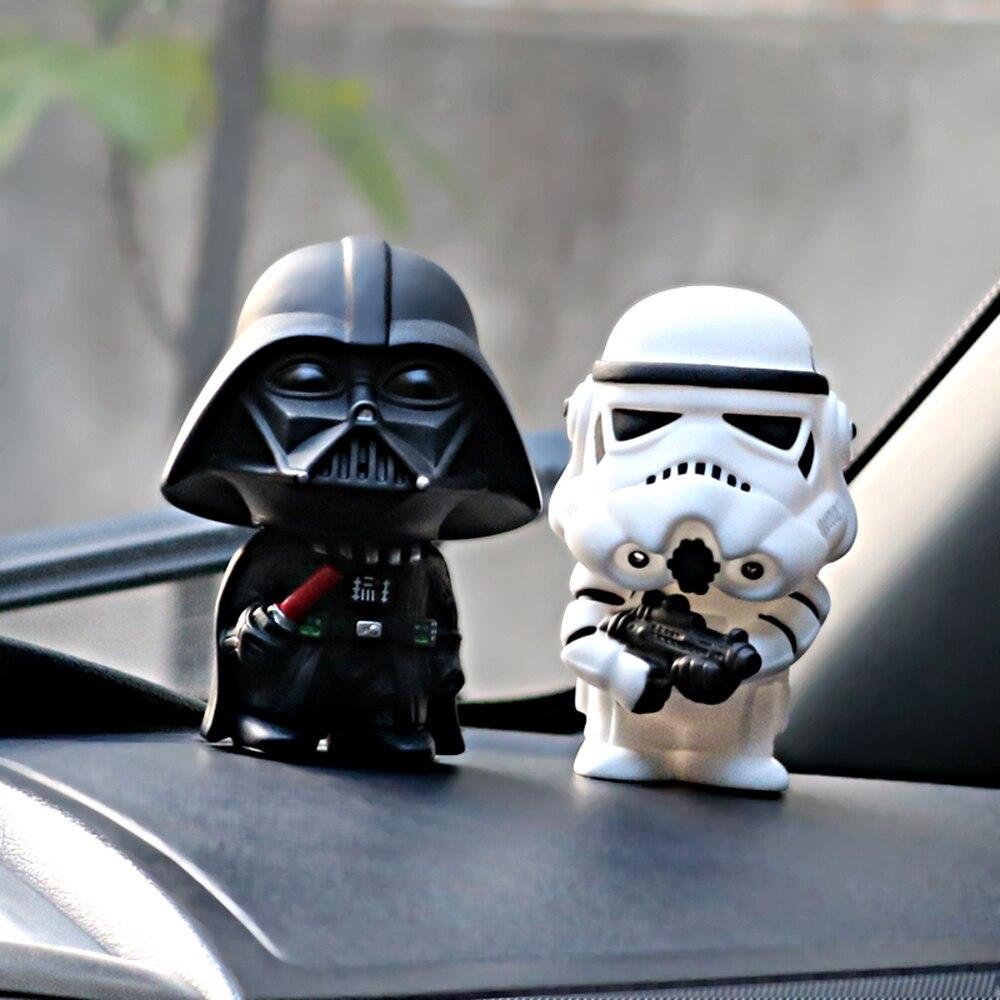 2 teile/satz Star Wars Dark Knight StromTrooper Soldat Waffen Mode Puppen Innen Dashboard Dekoration Ornament Auto-Styling