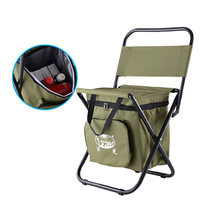 Wholesale Army Green Folding Chair Stool Thermal Insulation Ice Pack Bag Box Basket Outdoor Camping Picnic Fishing Multi Tools