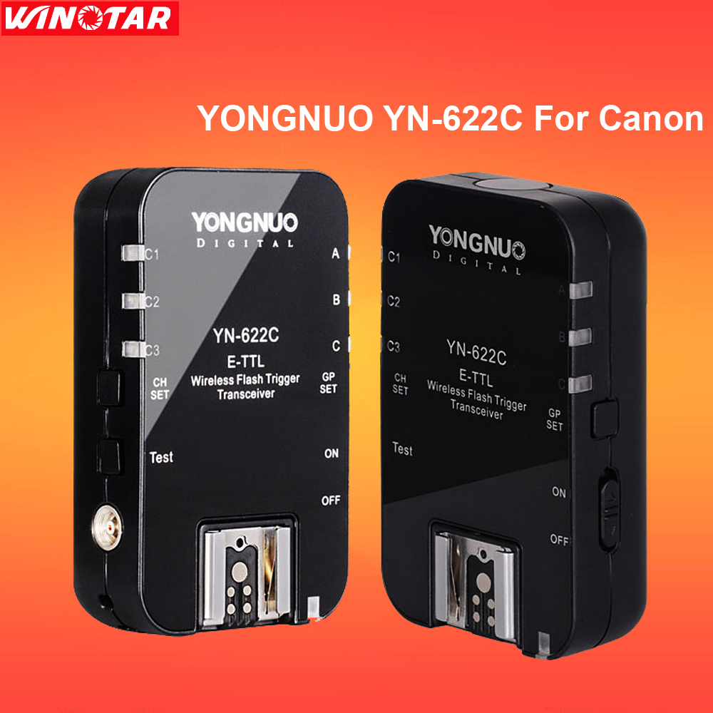 Yongnuo YN-622C YN 622C Wireless E-TTL 1/8000s HSS Flash Trigger for Canon 800D 760D 750D 700D 80D 70D 60D 50D 40D 1300D 77D 5D godox v860ii v860ii c e ttl hss 1 8000s li ion battery speedlite flash for canon 800d 760d 750d 80d 70d 60d 1300d 1200d 650d 1ds
