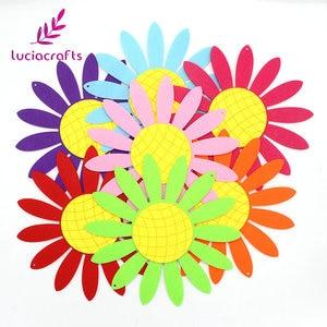 Продажа! Lucia crafts 2шт/4 шт цветы и листья форма нетканых материалов для скрапбукинга настенные украшения DIY ручной работы фетровая ткань B1205