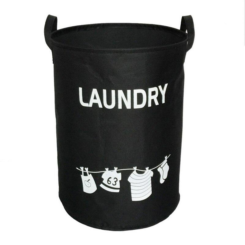 Dustproof Waterproof Foldable Oxford Laundry Basket Pop-up Washing Laundry Storage Bags Home Hampers Kids Toys Storage Bucket