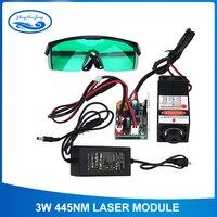 DIY 3000 МВт лазерный модуль, лазерной головки 3 Вт, DIY 3 Вт лазеры, 450nm синий свет лазерная, отправить очки как подарок