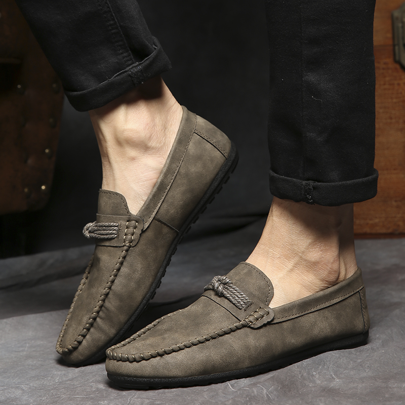 2019 New Peas Shoes Casual Fashion Loafers Men British Style Light Sneaker Breathe Driving Shoes Zapatos De Hombre HC-037