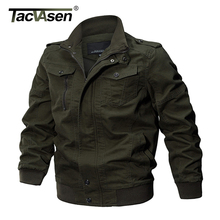 Pilot Jacket Coat Cargo TACVASEN Army-Safari Autumn Men Winter Fashion Cotton Slim-Fit