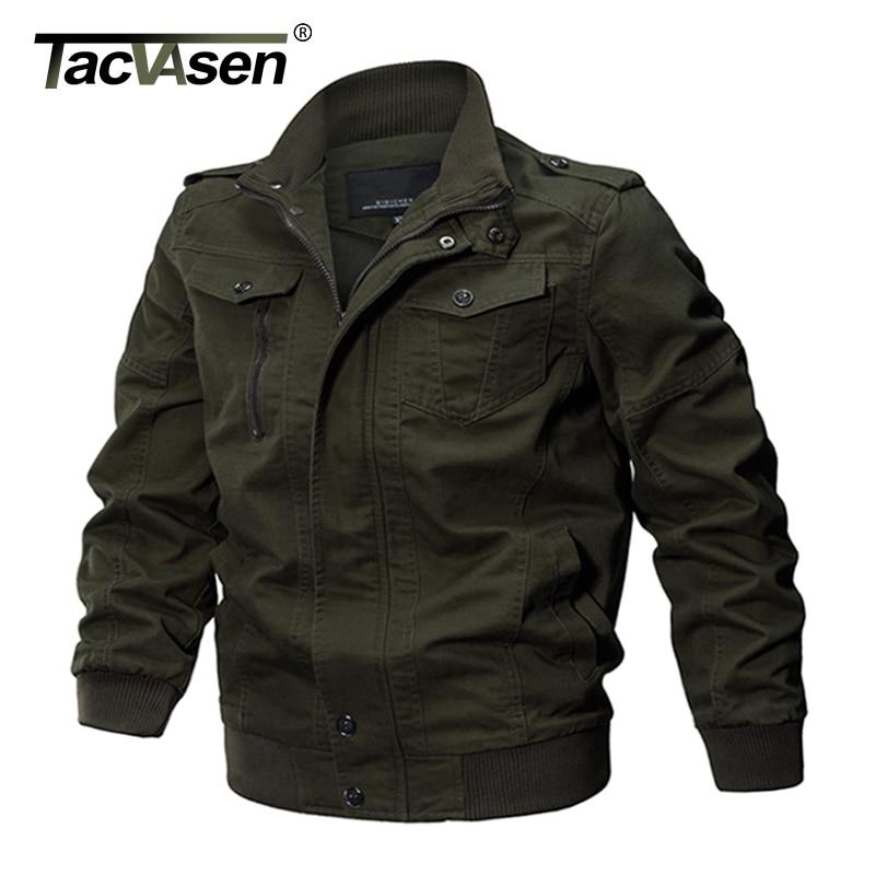TACVASEN hombres chaqueta militar chaqueta del algodón del invierno del Ejército de los hombres piloto Fuerza Aérea chaqueta otoño Casual Cargo Jaqueta TD-QZQQ-009