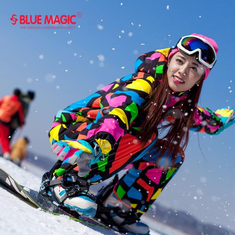 Blue Magic водонепроницаемый сноуборд One Piece катание на лыжах комбинезон женские сноуборд-30 градусов зимние лыжный костюм зимняя одежда комбине...