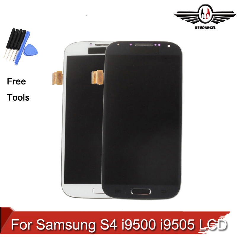 Display LCD for Samsung S4 i9500 i9505 LCD Display Touch Screen Digitizer with Bezel Frame Full