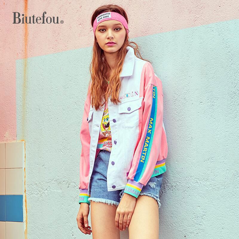 Broderie Mode 2019 Manches Pink Printemps Patch Vestes À De Designs Longues Femmes TZqU7OwZ