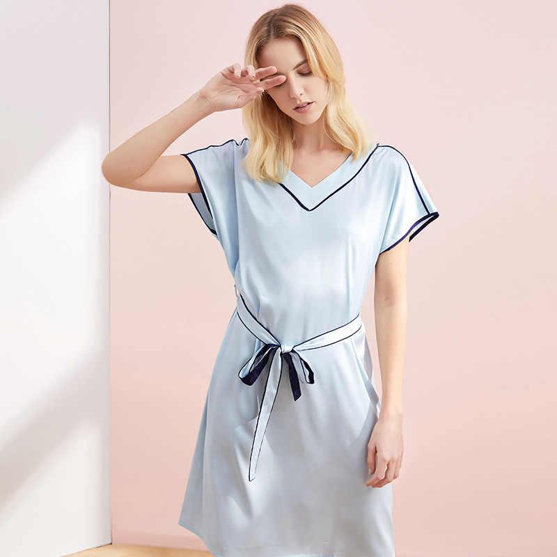 Сексуальная ночная рубашка, ночная рубашка с бантом, интимное нижнее белье, домашнее платье, женское кимоно купальный халат, атласная Домашняя одежда, бандажный Халат