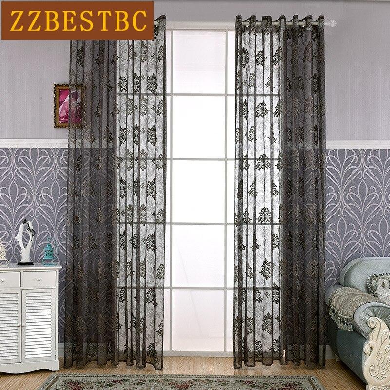 유럽 스타일의 고급 사용자 정의 자카드 명주 커튼 거실 고급 보일 커튼 침실 5 색