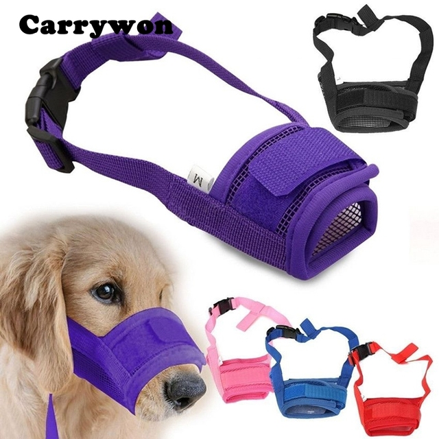 Carrywon Pet Dog Regolabile Anti Morso Museruola Maschera Cani Anti barking Magl