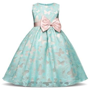 Low-Cost-Produkt Baby Blau Kleider für Mädchen Schmetterling Tutu ...