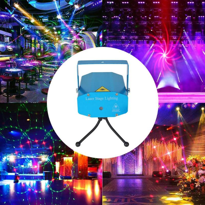 Professional Stage Light LED Stage Projector Lamp Sound Control Starry Sky Party Decor Laser Light Commercial Lighting