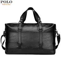 VICUNA POLO Business Men Travel Bags Large Capacity Brand Casual Black Travel Handbag High Quality Travel Man Shoulder Bags