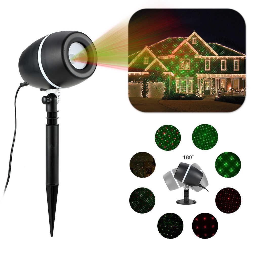 Tomshсветодио дный ine светодиодный лазерный проектор Газон лампа свет UL GS сертификат Звездное Рождество прожектор 3 светлый цвет динамический устойчивый узор