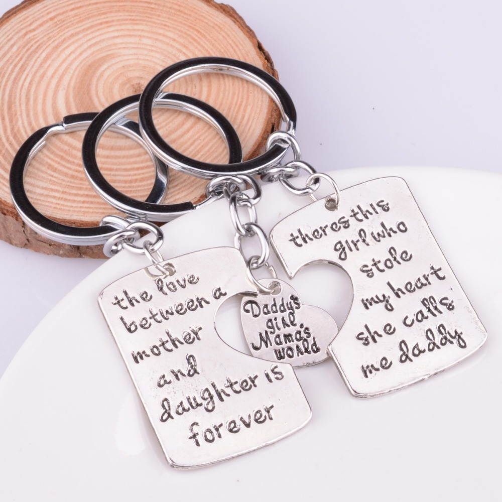 2pc no matter where mother daughter keychain jewelry heart compass