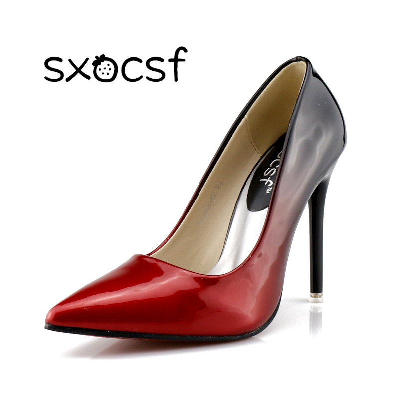 Women Sexy Mixed Colors High Heels Shallow Mouth Patent Pu Stilettos Female Elegant Pointed Toe Thin Pumps Fashion Party Shoes laser printer main board for samsung scx 4835fr scx 4835 4835fd 4835fr scx4835fr formatter board mainboard logic board