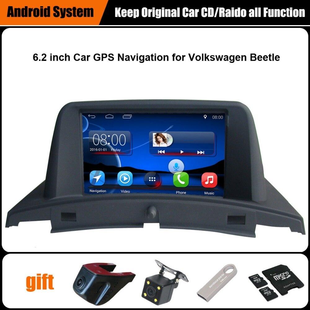 Aggiornato Lettore Autoradio Originale Vestito per Volkswagen Maggiolino VW Navigazione GPS Car Video Player WiFi Bluetooth