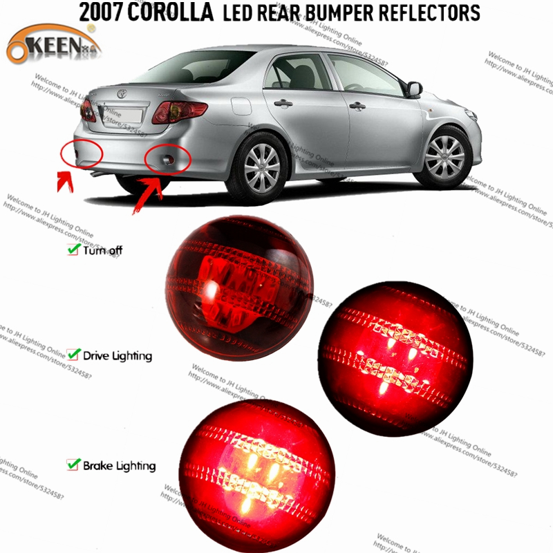 Automobiles Car Led Light Bar Car LED Rear Lihgts Tail Rear Bumper Reflector Lights Park ...