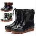 2016 New Fashion Anti-Slip Flat Heels Men'S Rain Boots Short Ankle Rainboots Waterproof Water Shoes Garden Wellies Warm