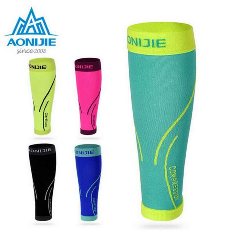 AONIJIE 1Pair Sports Compression Calf sleeve Breathable Warm Leggings Running Basketball Football Safety Protective Sports